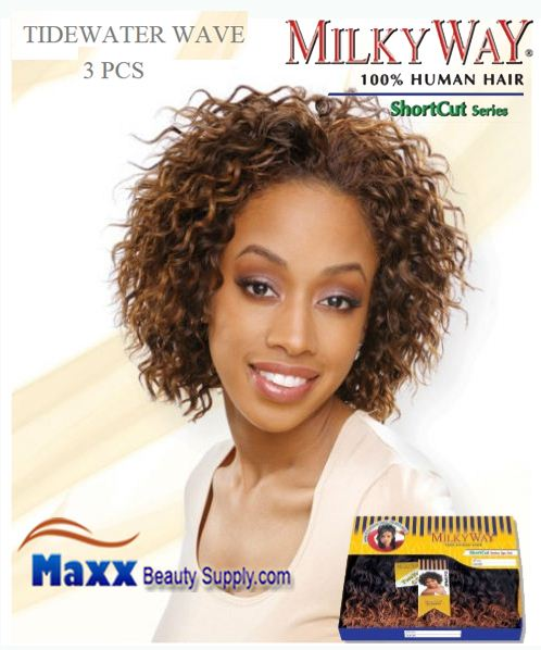 MilkyWay Human Hair Weave Short Cut Series - Tidewater Wave 3pcs